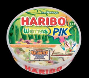bonbon halloween haribo worm piks